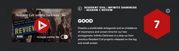 生化危机动画片,《生化:无尽黑暗》第一季获IGN 7分:比以往的都好
