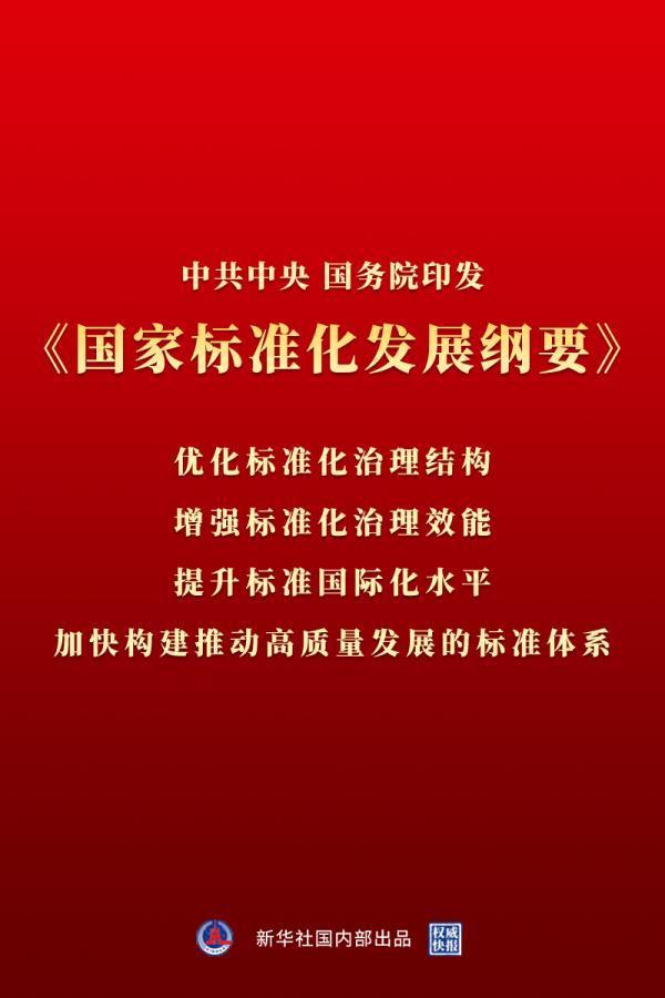 权威快报|《国家标准化发展纲要》发布