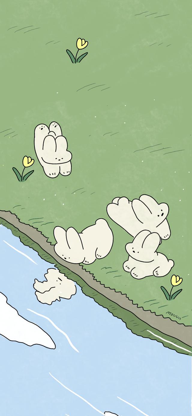 插画图片,清新治愈卡通插画壁纸,成长就是温柔、克制、朴素