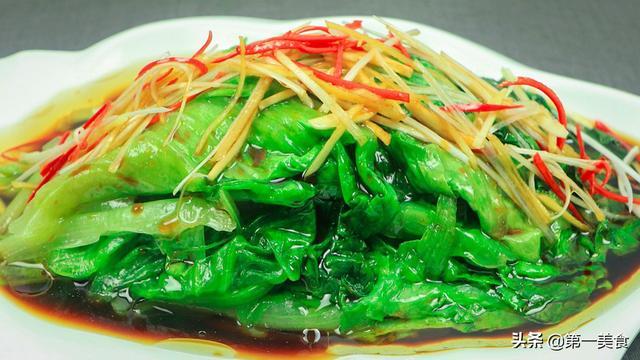 生菜的吃法,2分钟做一道白灼生菜,香脆不变色,原滋原味营养不流失