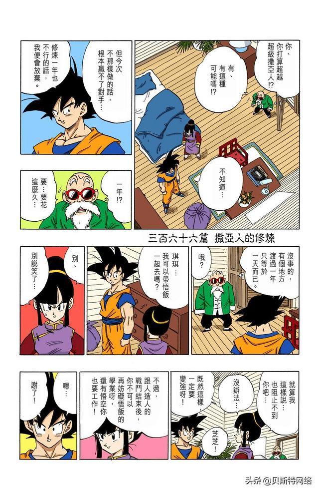 龙珠的漫画,「七龙珠全彩」漫画第366篇:精神时光屋的修炼