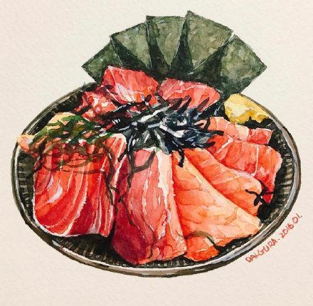 美食的画,超有食欲的美食插画!每一幅画面都让人流口水……