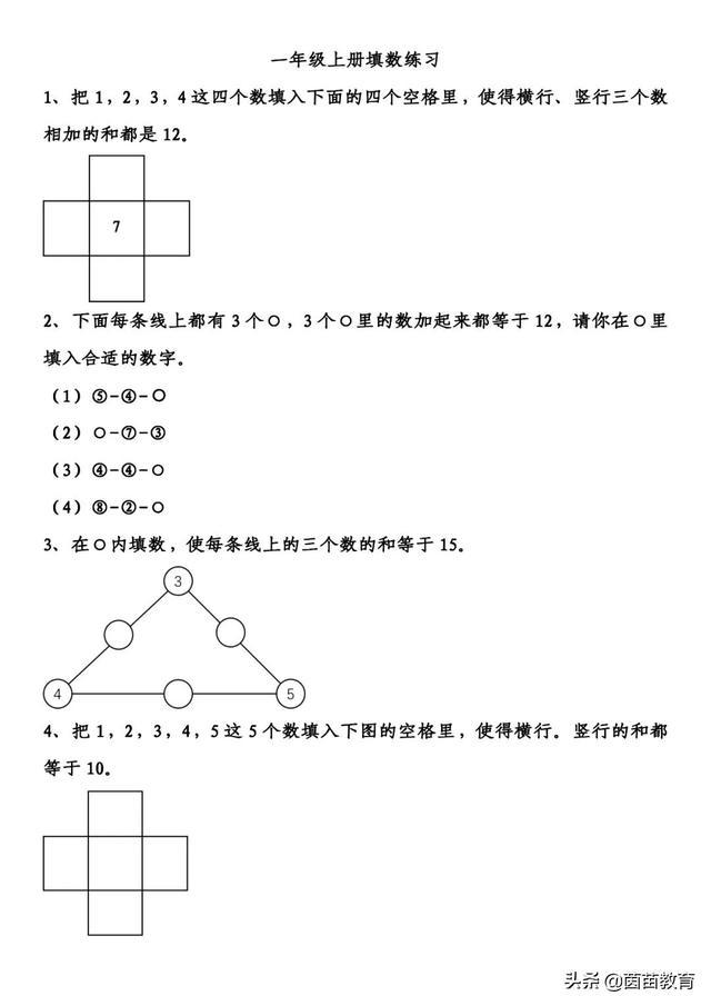 1-6年级数学常考思维拓展题,趁着寒假给孩子训练一下吧