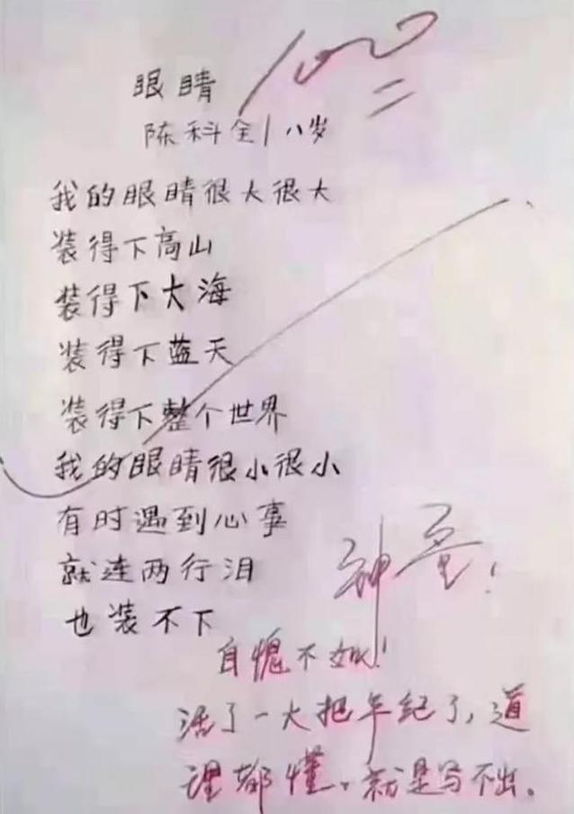 眼睛的句子,8岁小学生的作文《眼睛》,写得如诗如歌,老师:神童,自愧不如
