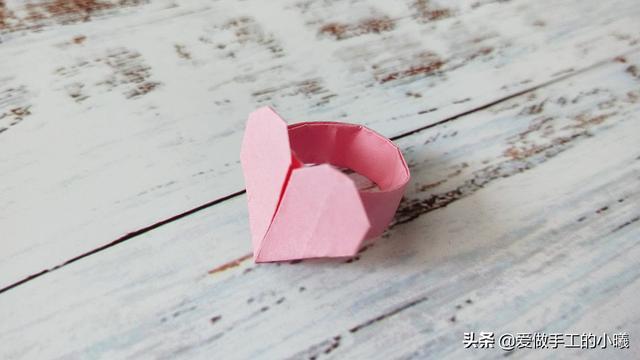爱心怎么折,折纸教程:爱心戒指图解,简单漂亮又别致,快来看看