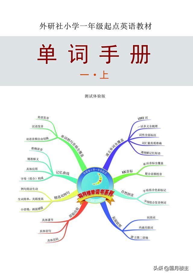 外研社小学一年级起点一年上册单词书 (02)
