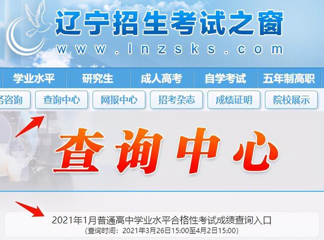 高中成绩查询,查分了!辽宁省2021年1月高中学业水平合格性考试成绩
