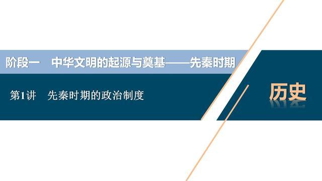 2021年高考历史一轮复习,第1讲先秦时期的政治制度