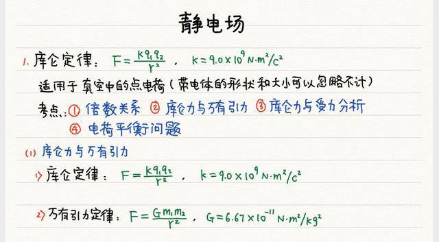 高中物理必修 电学模块 原创笔记(转发/收藏)
