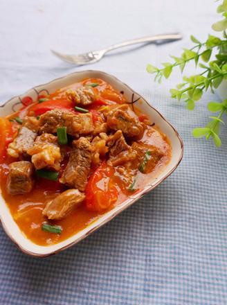 西红柿炖牛腩的做法,西红柿炖牛腩正宗的做法,味道好又有营养,好吃到连汤都喝干净了