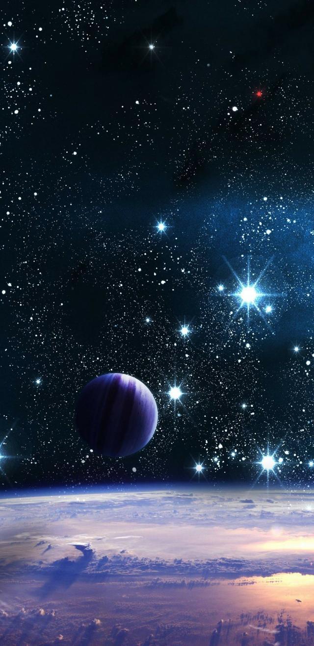 星空图片,高清原图壁纸:璀璨的星空是前进的方向