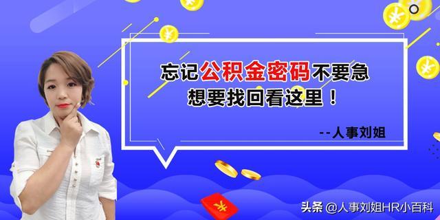 人事刘姐:忘记公积金密码不要急,想要找回看这里