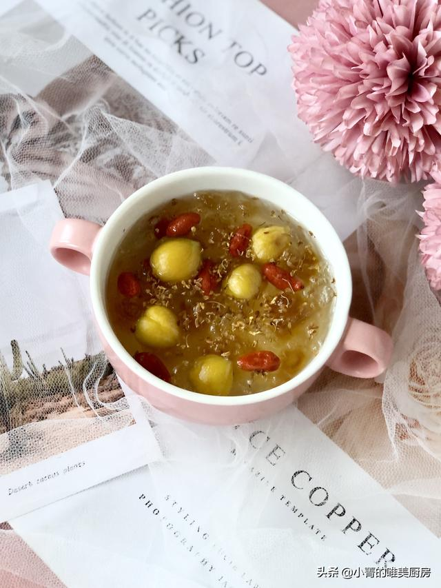 桃胶雪燕皂角米的做法,锥栗桃胶雪燕羹,软糯清甜,满满的植物胶原蛋白