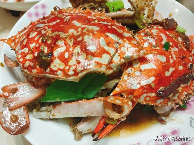 花蟹的吃法,爆炒花蟹,做法简单,香辣入味,让你两分钟学会一道大菜