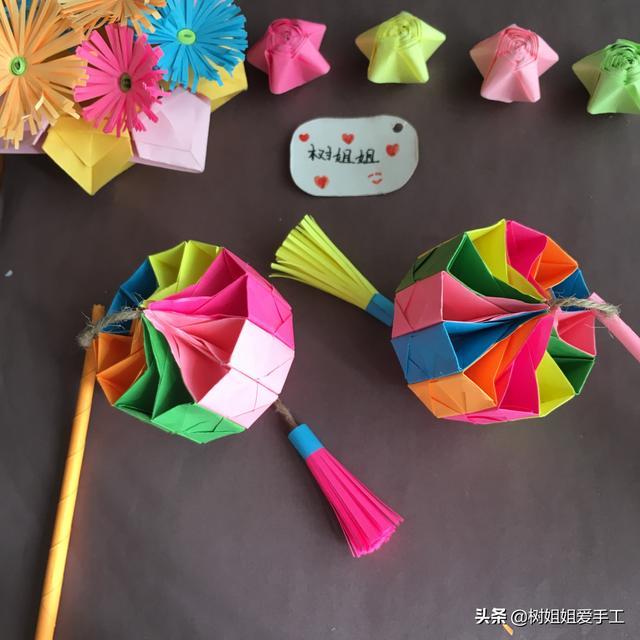 纸灯笼怎么做,装饰折纸:中式手提灯笼的完整图解教程
