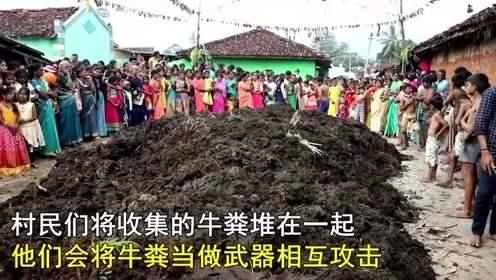 印度节日,神奇的印度泼粪节:狂欢者将牛粪掷到人脸上,还喝牛尿吃牛粪饼