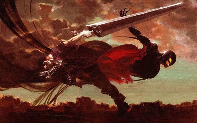 剑风传奇漫画,剑风传奇:霸王1V1神之手不落下风,格斯能成长到霸王的实力吗?