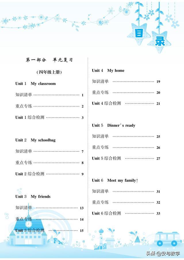 人教PEP四年级英语寒假学期总复习