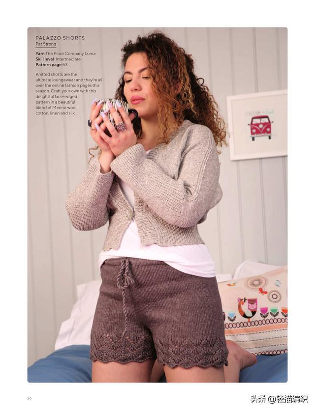 咖啡色图片,开衫、披肩和短裤,深浅咖啡色,款式简约,沉稳大方
