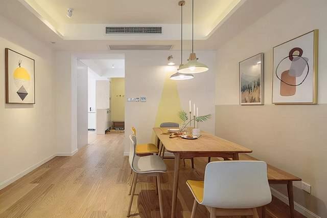 尚层空间|中城国际城106㎡原木简约两居室的暖色朴质风