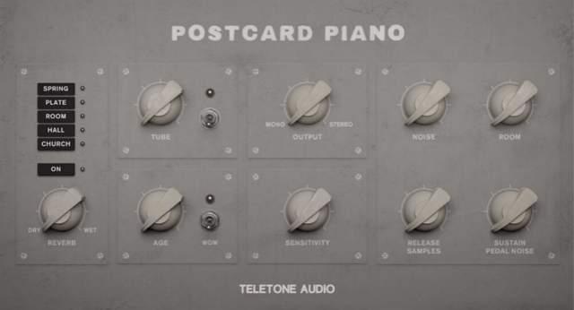 [氛围明信片钢琴音源]Teletone Audio Postcard Piano [KONTAKT](325Mb)