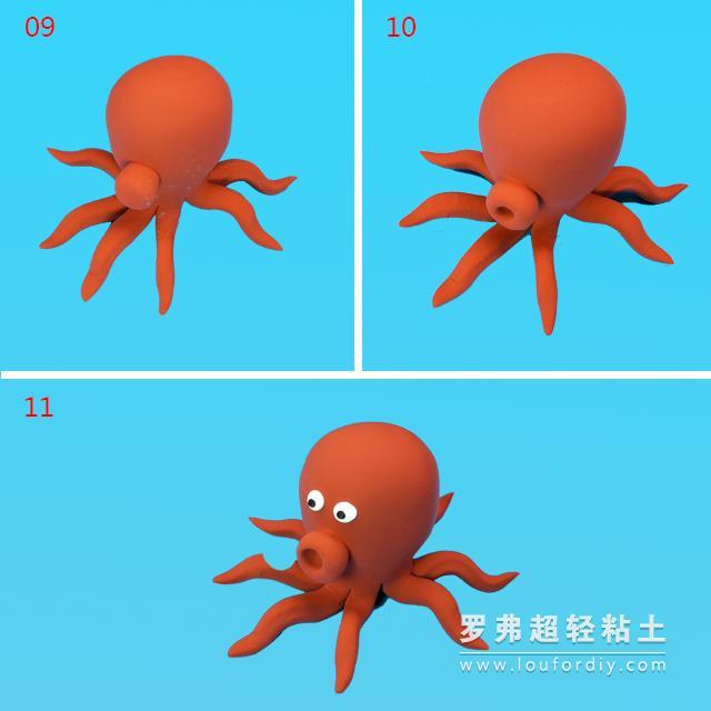 """霸王龙玩具视频大全和动画片:粘土教程丨""""巧乐卡""""海底大冒险—章鱼"""