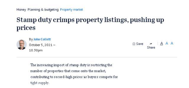 恶性循环 澳洲印花税上升推动房价上涨