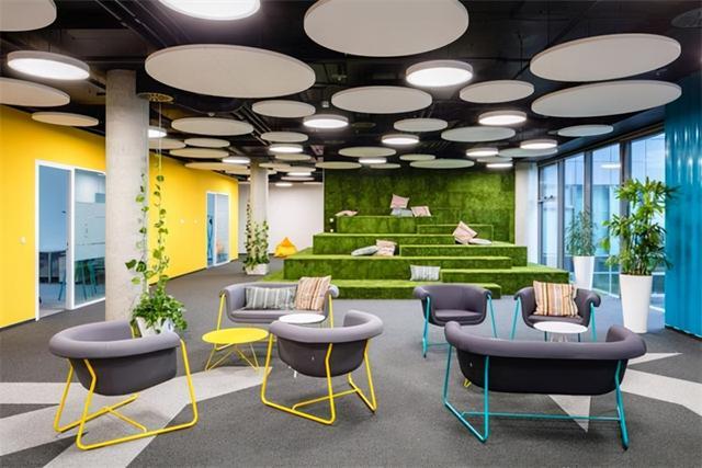 这样的办公室装修,平淡的工装设计公司设计不出来