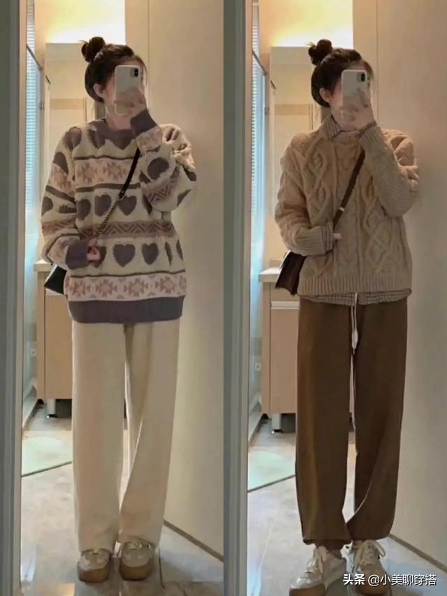 降温啦,要暖暖的穿搭才好看,不露脚踝也可以很显瘦很时髦
