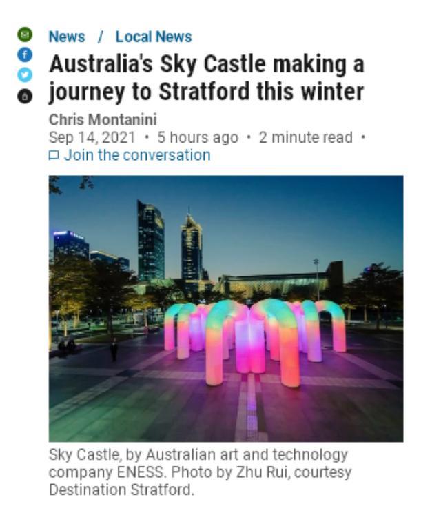 照亮深圳、香港之后 墨尔本天空城堡灯展将首次亮相北美