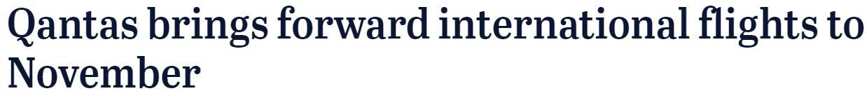 澳洲官宣,11月正式开放国境!留学生即将返澳,没打科兴怎么办?