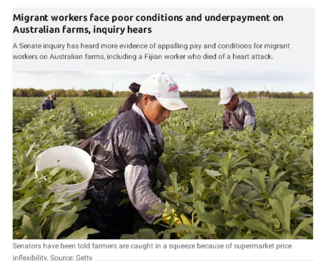 """澳洲华人移民劳工控诉被剥削:""""老板不让我们与外人谈论工资"""""""