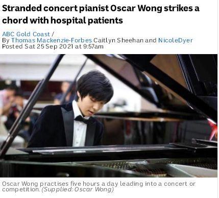 疫情见真情!澳大利亚华裔钢琴家赴医院病房为患者演奏