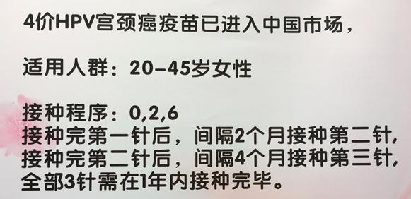 3针共需2664元 女性接种四价HPV需要注意5点