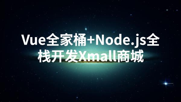 Vue 全家桶 + Node.js 全栈开发 Xmall 商城课程