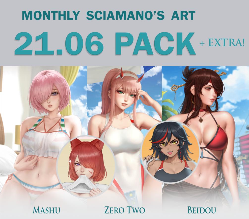 画师Sciamano240 2021.6-8月插画
