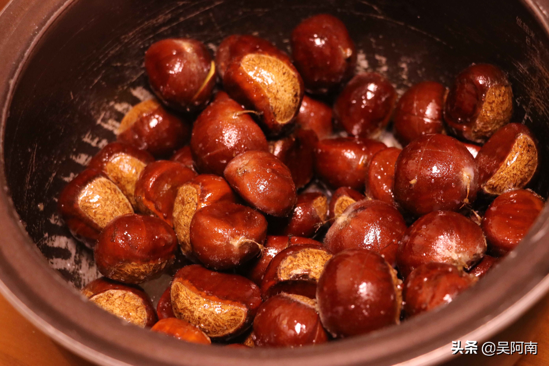 教你电饭锅板栗的做法,香甜软糯,快速去壳关键就在这一步
