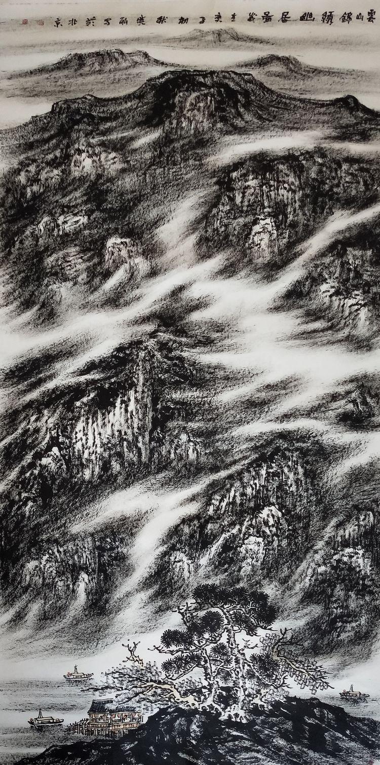 艺术来源于生活而高于生活,著名焦墨云雾山水画家林晓丽