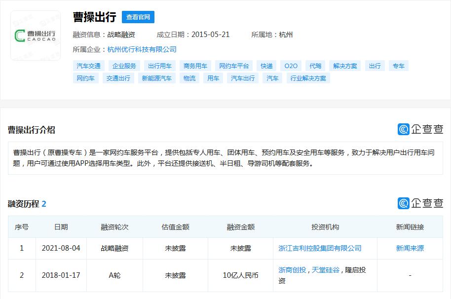 网约车中场战事:曹操出行融资数十亿,谁在觊觎龙头位置?