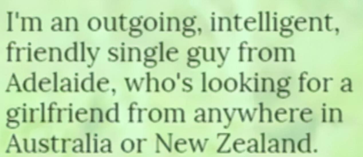 澳洲学霸老哥网上征处女女友,结果几年过去了还没征到