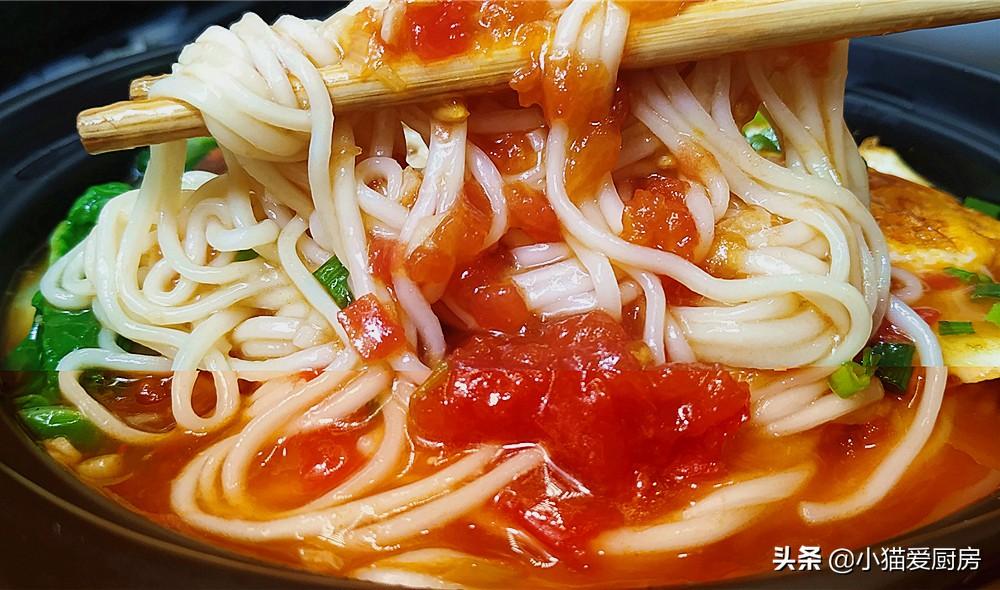 【茄汁浓汤面条】做法步骤图 学会了自己也能做出饭店的味道